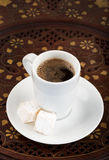 Cup of strong turkish coffee Stock Image