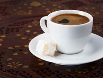 Cup of strong turkish coffee Stock Photography