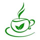 cup stylized tea Royaltyfri Foto