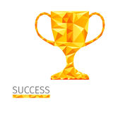 Cup success. Creative concept of the success, cup consists of colorful polygons, vector Royalty Free Stock Photos