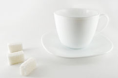 Cup and sugar Royalty Free Stock Photography
