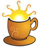 Cup with sun Stock Image