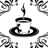 Cup symbol on the ornamental background royalty free stock image