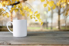 Cup on table Royalty Free Stock Photo