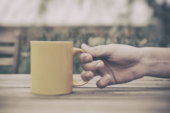 Cup on the table Royalty Free Stock Photography