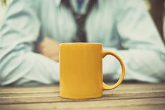 Cup on the table Stock Photography