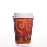 Cup of take-out coffee. On a white background Stock Images