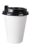 Cup of Takeaway Coffee. On White Background royalty free stock photo