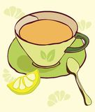 Cup of tea. With abstract background Royalty Free Stock Photo