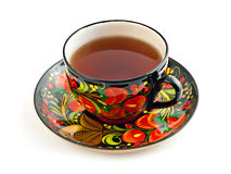 Cup of Tea. With a beautiful ornament Stock Photos