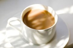Cup of tea. Cup of refreshing tea against shadows Stock Photo