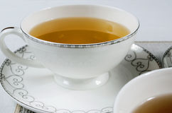 Cup of tea. Closeup of white, porceliane cup of tea Stock Images