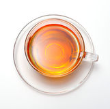 Cup with tea. On white stock photo