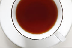 Cup of Tea. A cup of warm tea on white background Royalty Free Stock Photos
