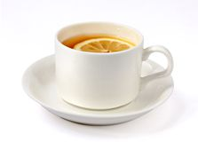 Cup of tea. On white background Stock Photos