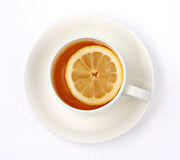 Cup of tea. On white background Stock Image