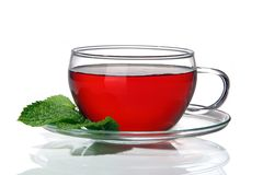 Cup of tea. Cup of berry tea, isolated on a white background stock image