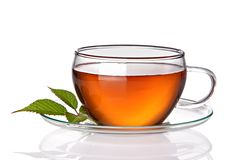 Cup of tea. On white background Stock Images