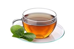 Cup of tea. Isolated on white background Stock Photo