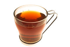 Cup of tea. A cup of tea placed over white background Royalty Free Stock Photo