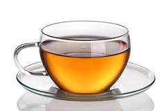 Cup of tea. Isolated on white background Royalty Free Stock Photography