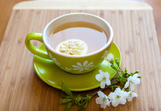 Cup of tea. With fresh lemon stock photography