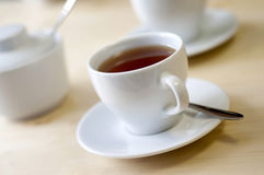 A cup of tea. On the table Royalty Free Stock Images