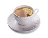 Cup of tea. With lemon Stock Photography