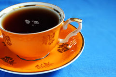 A cup of tea. Elegant tea cup with freshly made tea stock photography