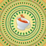 Cup of tea. Vector illustration of cup of tea Stock Photo