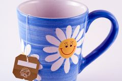 Cup of Tea. Tea in a sunny flower mug Royalty Free Stock Images
