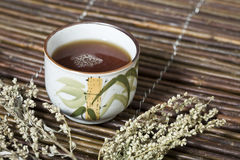 Cup of Tea. A Cup of Tea on a table Royalty Free Stock Images