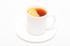 Cup of tea. There are a cup of tea with lemon Royalty Free Stock Image