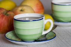Cup of tea. A cup of tea with lemon Royalty Free Stock Image
