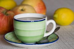 Cup of tea. A cup of tea with lemon Stock Photo