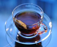 Cup of tea. On the table, close up Stock Photo