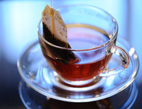 Cup of tea. On a table, close up Royalty Free Stock Image