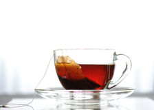 Cup of tea. On a table, white background Stock Photo