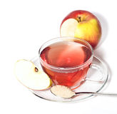 Cup of tea with apple Stock Image