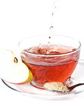 Cup of tea with apple Royalty Free Stock Image