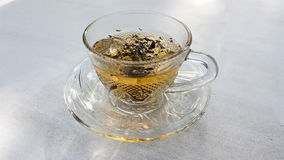 A cup of tea. A cup of Asian tea for breakfast or relaxing time. Feeling warm and fresh Stock Images