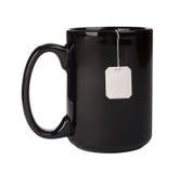 Cup with tea bag Stock Photo