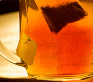 Cup of tea bag Royalty Free Stock Images