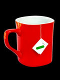 Cup with tea bag ready Stock Photos