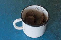 Cup with Tea Bags Stock Photography