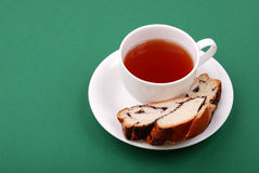 Cup of tea with a bakery Royalty Free Stock Photography