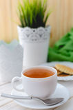Cup of tea on a beautifully decorated table Stock Photo