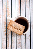 Cup of tea and biscuit Royalty Free Stock Photo