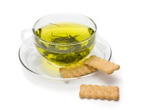 A cup of tea and biscuits Stock Photo