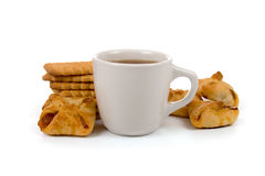 Cup of tea and biscuits Royalty Free Stock Image